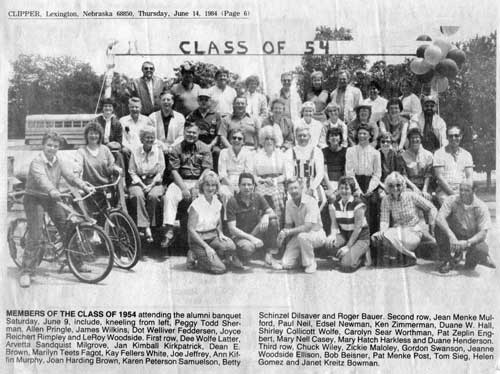 Class of 1954 30 year reunion photo.